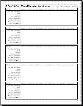 Home reading log with parent signature new calendar for Reading log for high school students template